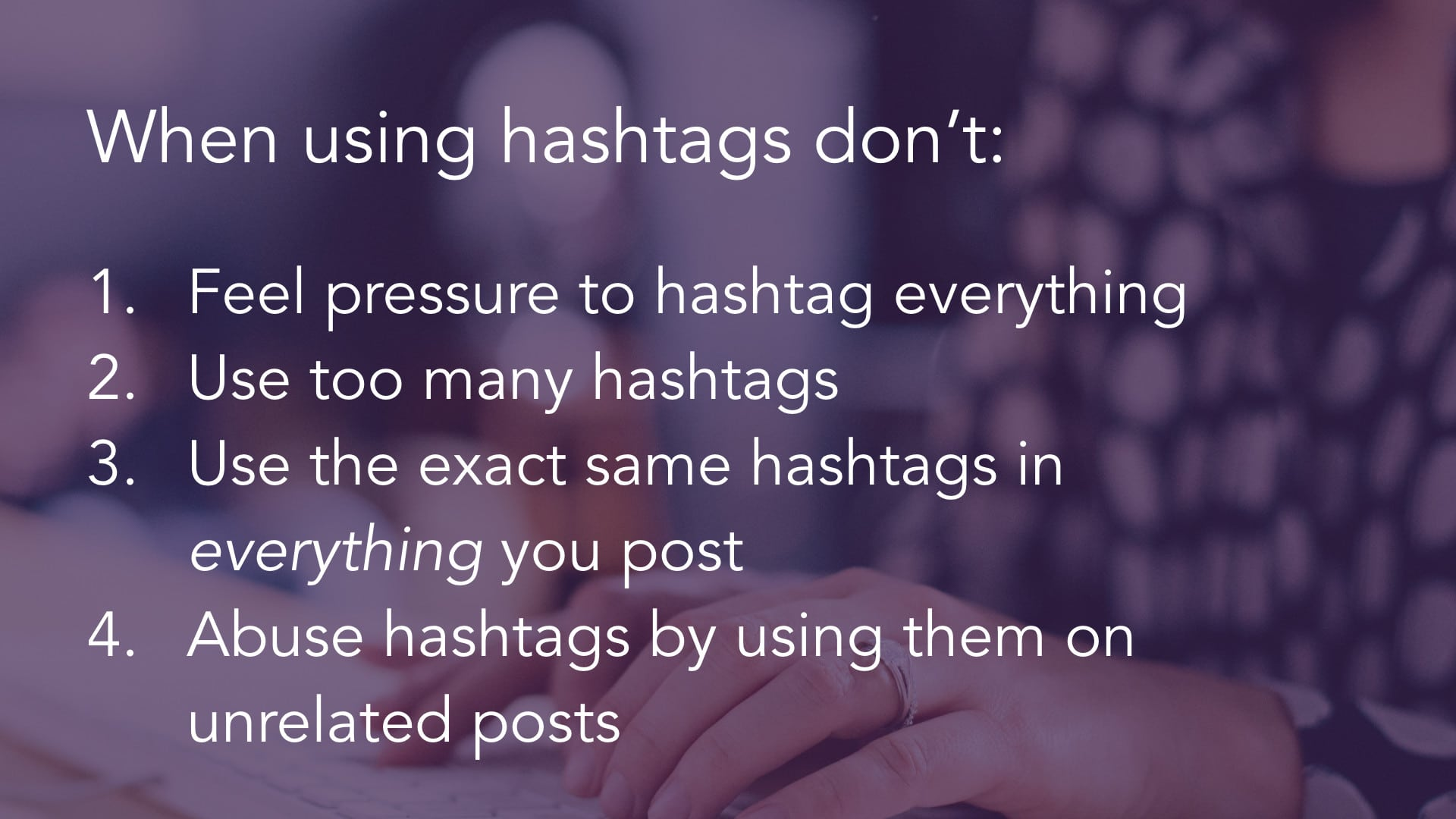 Find Appropriate Hashtags