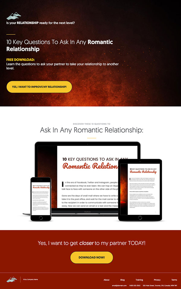 High Converting Landing Page PLR Template