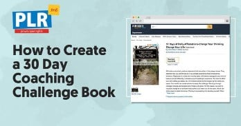 How to Create a 30 Day Coaching Challenge Book