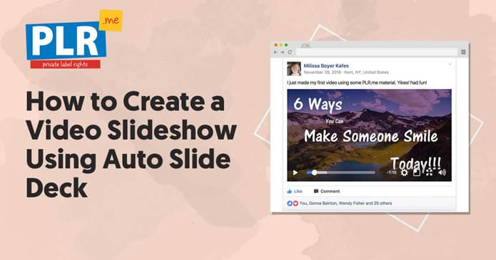 How To Create a Video Slideshow Using Auto Slide Deck