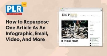 How to Repurpose One PLR.me Article As An Infographic, Email, Training Video, And Presentation