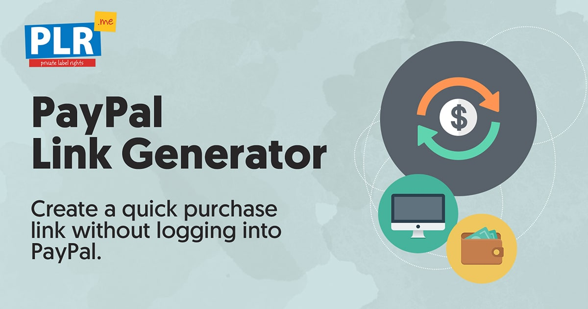 paypal link generator create quick purchase links