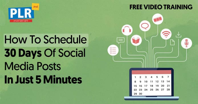 How To Schedule 30 Days of Social Media Posts In Just 5 Minutes