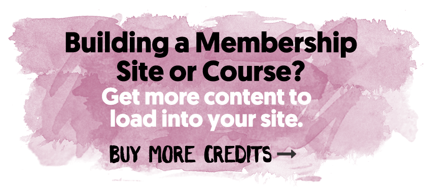 Building Out A Membership Site or Course?