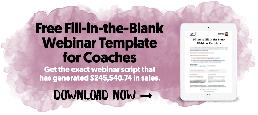Free Fill-in-the-Blank Webinar Template for Coaches