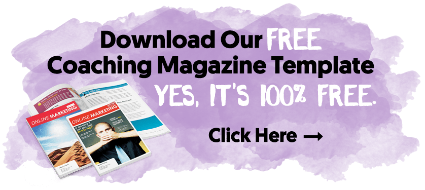 Download Our Free Coaching Magazine Template