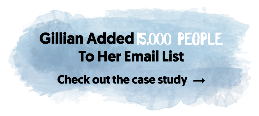Gillian Added 15,000 People To Her Email List
