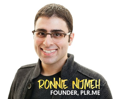 Ronnie Nijmeh - Founder of PLR.me and Content Marketing Expert