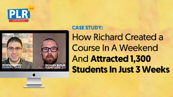 How to Build a Course In A Weekend Using PLR Content